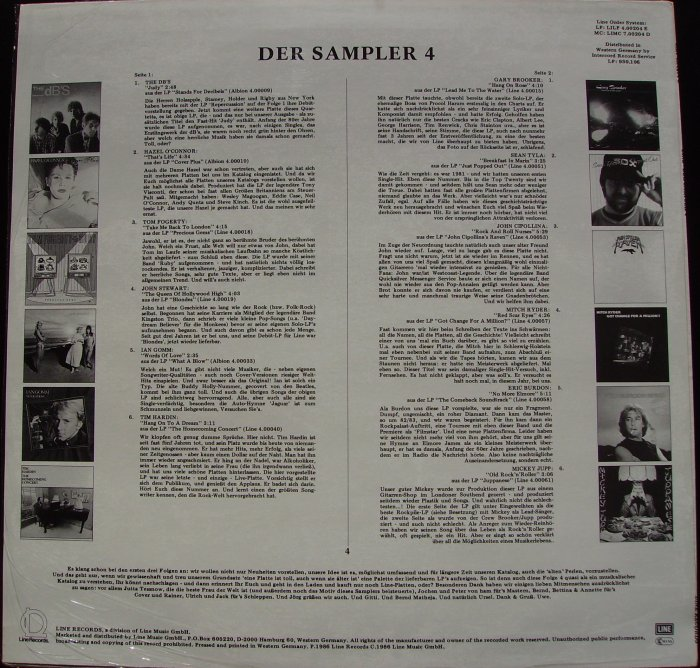 LP back cover